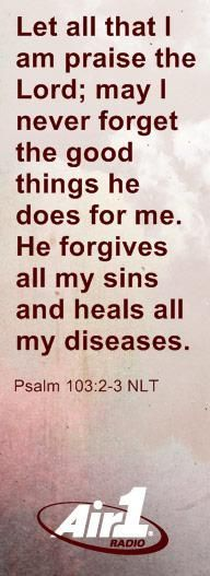 Read the Bible verse of the day and have it emailed to you > Air1 Radio, Positive, Alternative Music