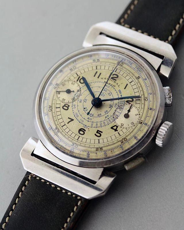 REPOST!!! NATIONAL WATCH 1940's #watch #antique #antiquewatch #vintage #vintagew...
