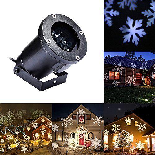 Gledto LED Projecteur Etanche Flocon de Neige Spotlight à l'extérieur / intérieur Party Eclairage Jardin Terrasse / Maison Chambre: Longue…