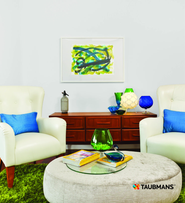 It's easy to get the Mad men look when you stick to a palette of turquoise, blues & greens.  Accents of timber is the perfect way to complete the look. #Taubmans