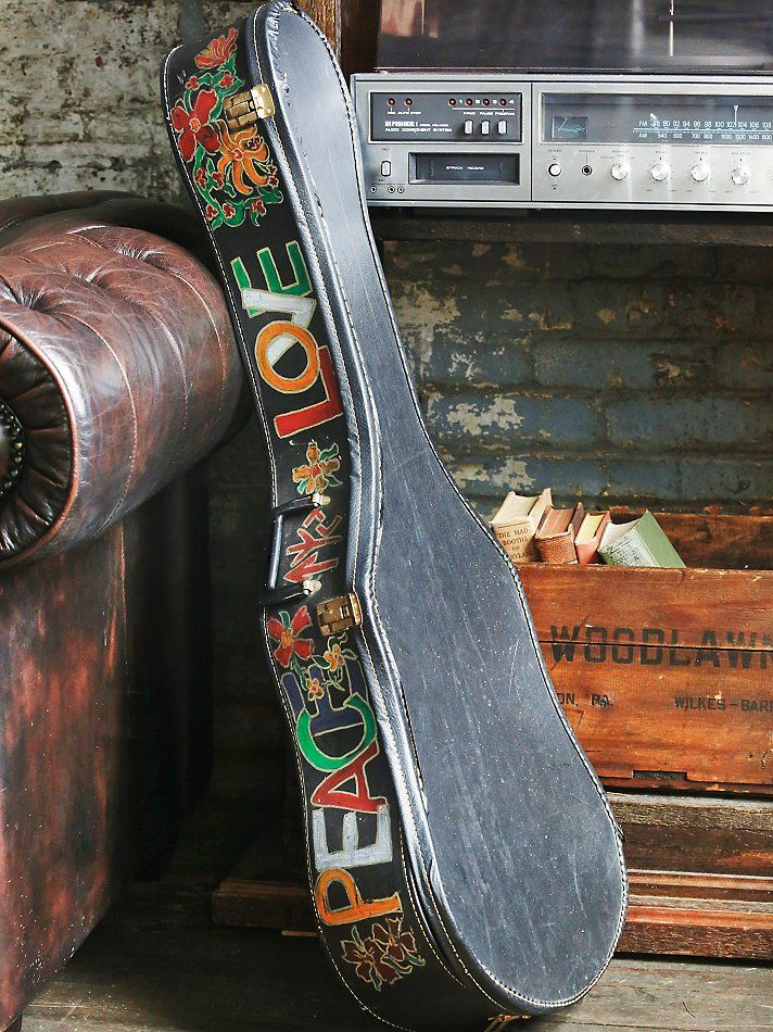 Vintage Guitar Case | A special piece of musical history, this vintage guitar case dates back to the Flower Child days of the 1970s. Beautifully detailed with hand painted art.