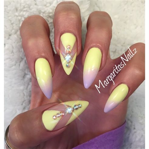 pastel stiletto nails - Google Search
