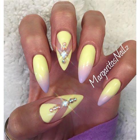 pastel stiletto nails - Google Search