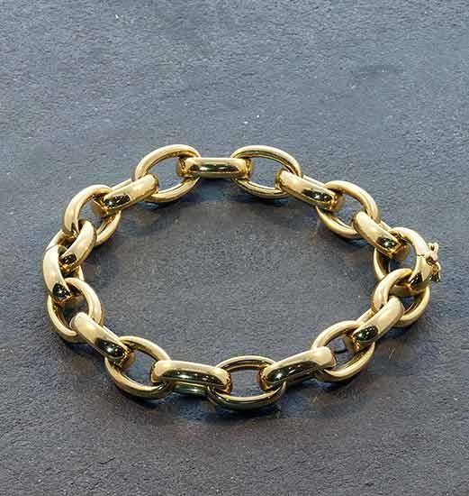 Monica Rich Kosann Yellow Gold & White Ceramic Link Bracelet XsTfNI