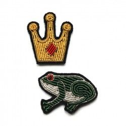 """Broches brod_es main """"Prince et Grenouille"""""""