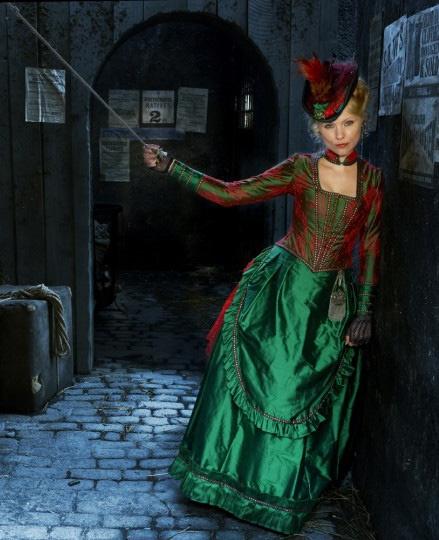 Long Susan (MyAnna Buring) 'Ripper Street' 2013. Costume designed by Lorna Marie Mugan.
