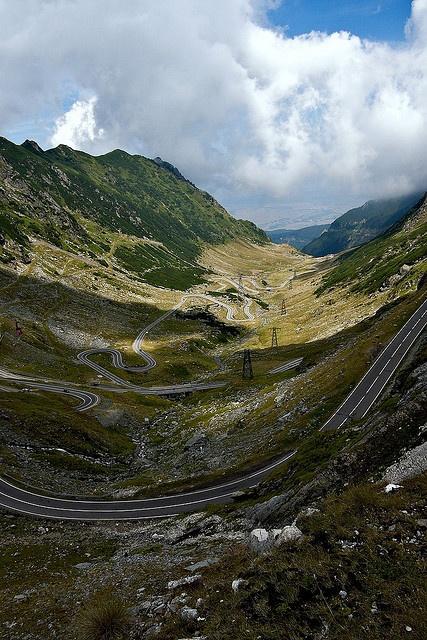 Transfagarasan Highway passing through Fagaras Mountains, Romania;  photo by Horia Varlan, via Flickr