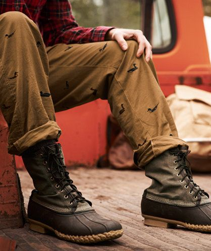 Waxed Canvas Duck Boots With Tan Pants My Style Pinboard