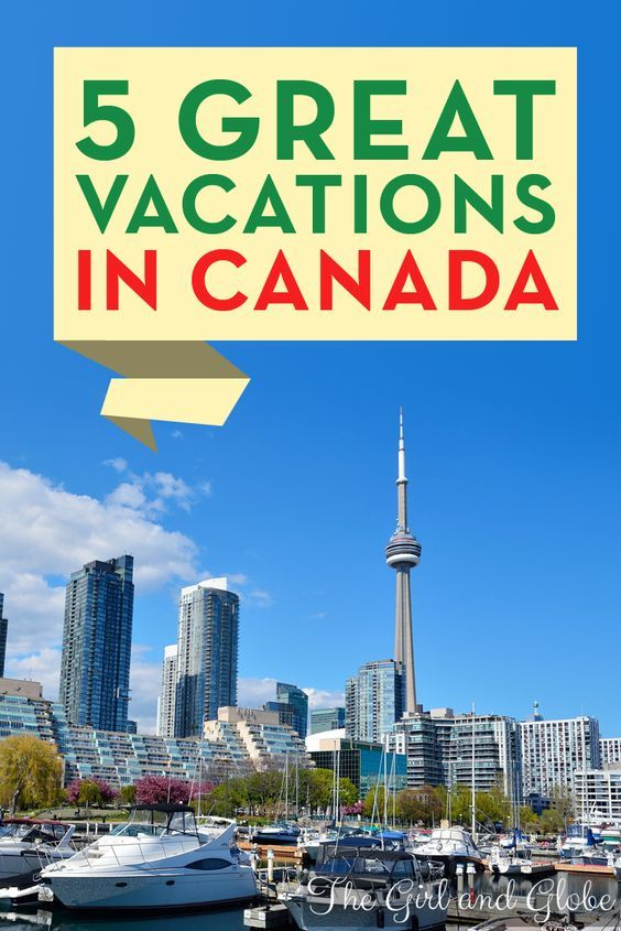 In celebration of Canada Day, here are five Canadian travel destinations perfect for your next vacation.