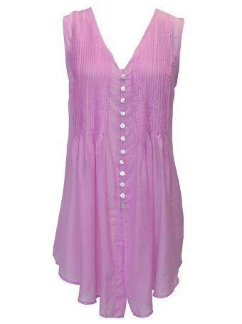 MULTI PINTUCK BLOUSE - Flower Clothing - Pretty Pink Flowy Summer top