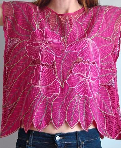 pink [Bali cutwork shirt]
