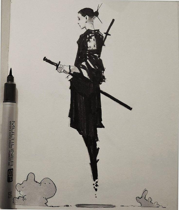 "rhubarbes: "" ArtStation - Inktober 2015_selection, by Alexander J More sketches here. """