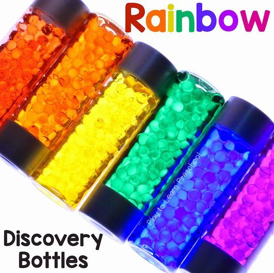 Rainbow Discovery Bottles by Play to Learn Preschool
