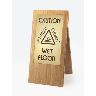 Cal-Mil Wet Floor Sign Finish: Bamboo