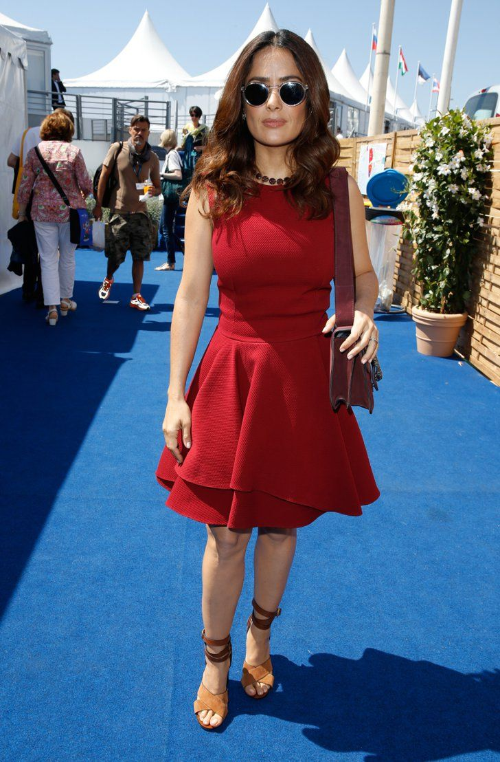 Pin for Later: These Latinas Impressed at Cannes With Their Gorgeous Style Salma Hayek