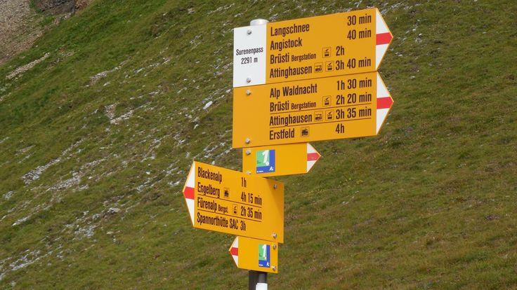 Pass no 4: Surenenpass (Via Alpina Switzerland)