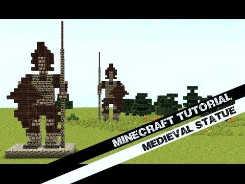 how to build a statue in minecraft