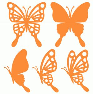 Silhouette Design Store - View Design #75301: butterflies set