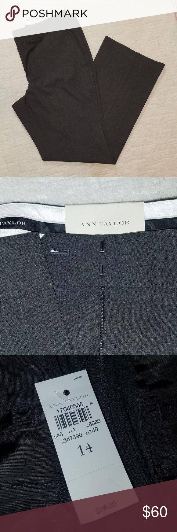 NWT Ann Taylor dark grey dress pants. Size 14 Ann…