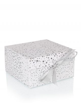 White Silver Polka Dot Tie Small Gift Box Gift Boxes Gift Wrap