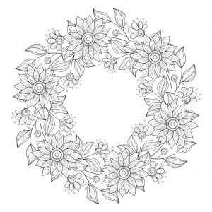 Advanced Flower Coloring Pages 9 - KidsPressMagazine...