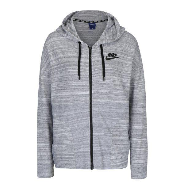Hanorac gri melanj subțire pentru femei Nike Sportswear Advance 15