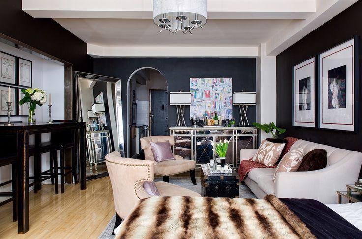 гостиная спальня диван кровать кресло напольное зеркало бар