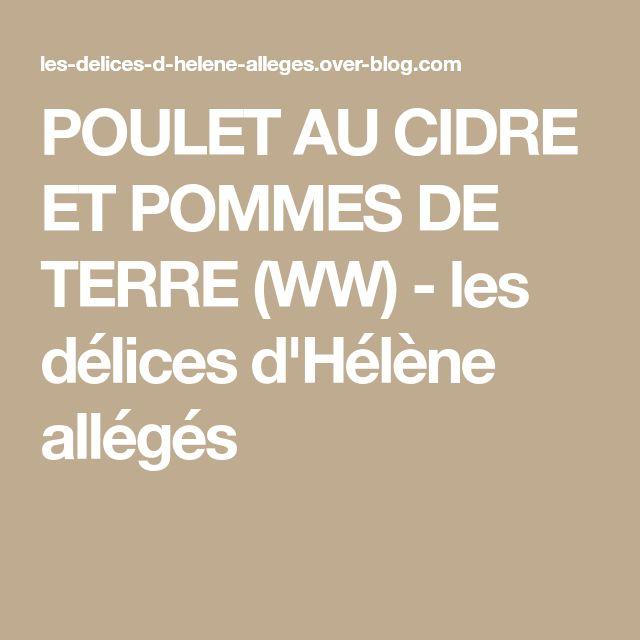 POULET AU CIDRE ET POMMES DE TERRE (WW) - les délices d'Hélène allégés