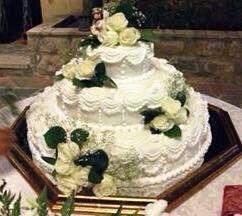 Torta nuziale per un matrimonio da favola ....