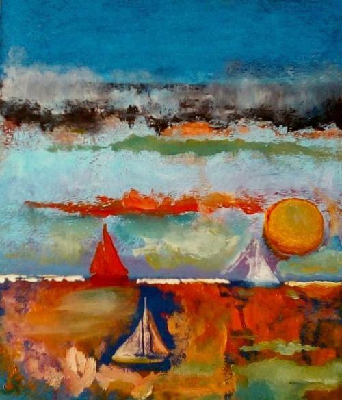 Paintings - JOLLIES 1 - AN ORIGINAL PAINTING BY CELESTE FOURIE-WIID for sale in Hermanus (ID:308464961)
