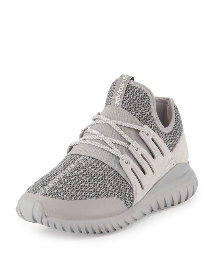 Tubular Radial Trainer Sneaker, Gray. Adidas ...