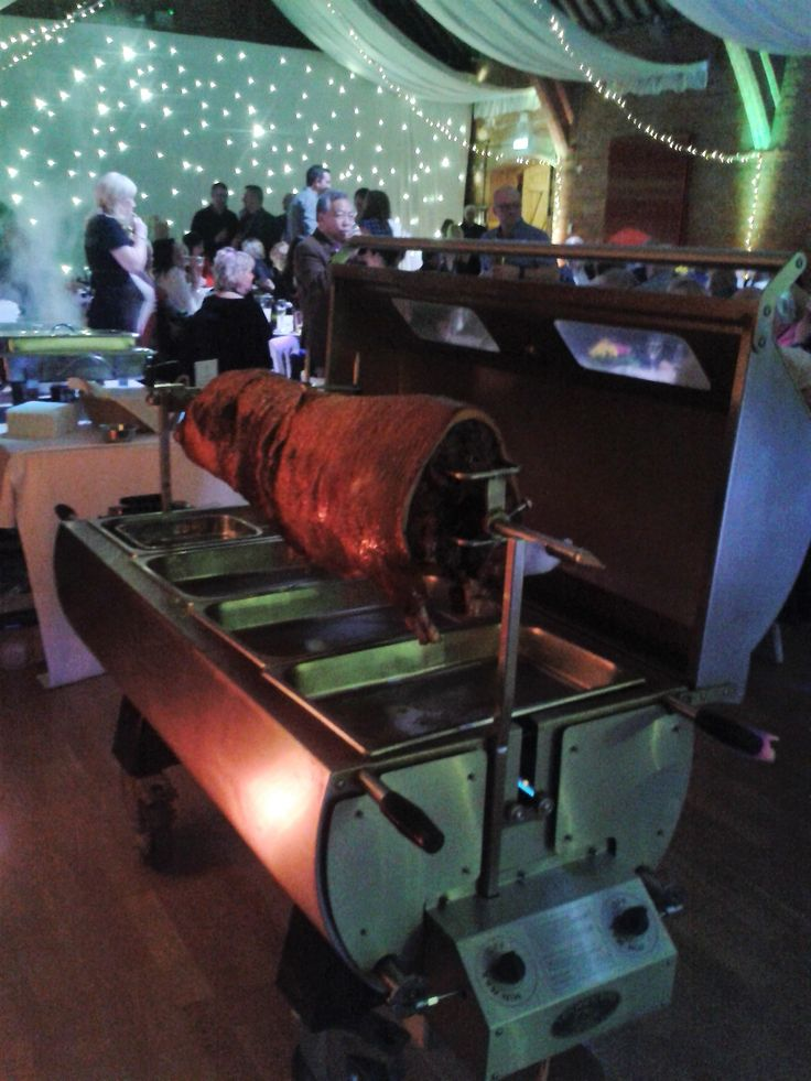 Little John's Hog Roast, ready to serve for 70th birthday party
