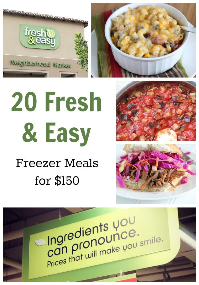20 Fresh & Easy Freezer Meals for $150 – FREE Meal Plan Printables!