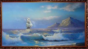 Синее море - Морской пейзаж <- Картины маслом <- Картины - Каталог | Универсальный интернет-магазин подарков и сувениров