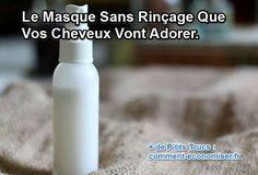 Heureusement, le lait de coco est là ! Il adoucit et conditionne les cheveux sans les alourdir. Il suffit d'en pulvériser sur les cheveux propres et humides. Et voilà, c'est fait.  Découvrez l'astuce ici : http://www.comment-economiser.fr/masque-cheveux-sans-rincage-maison.html?utm_content=bufferd3cf6&utm_medium=social&utm_source=pinterest.com&utm_campaign=buffer