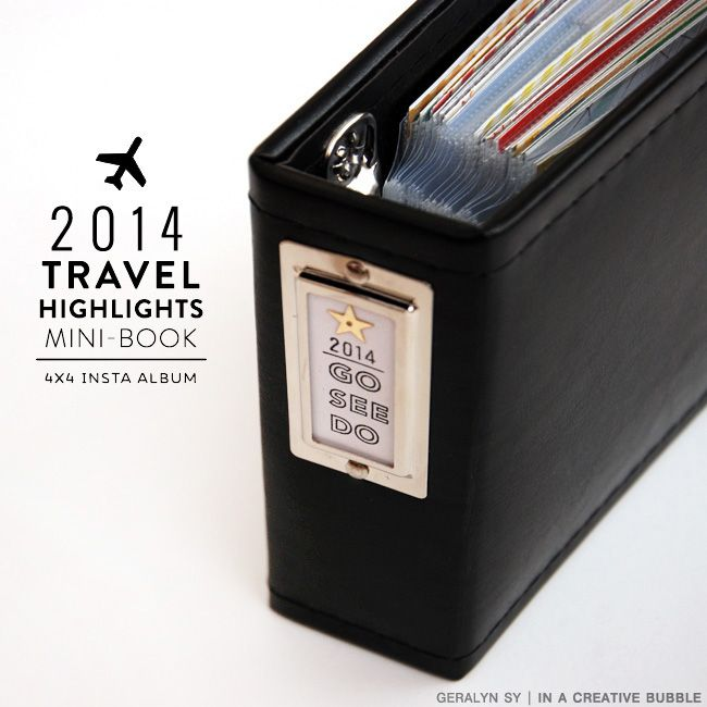 In a Creative Bubble: 2014 Travel Highlights Mini  - this is the cutest little travel album.