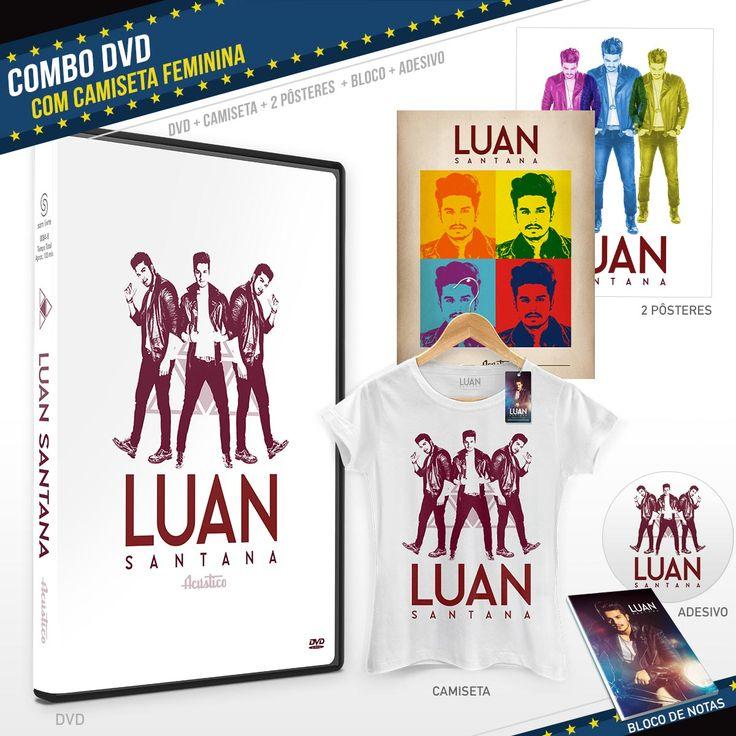Pré-Venda Combo DVD Luan Santana Acústico + Camiseta    #novoDVDLuanSantanaShop