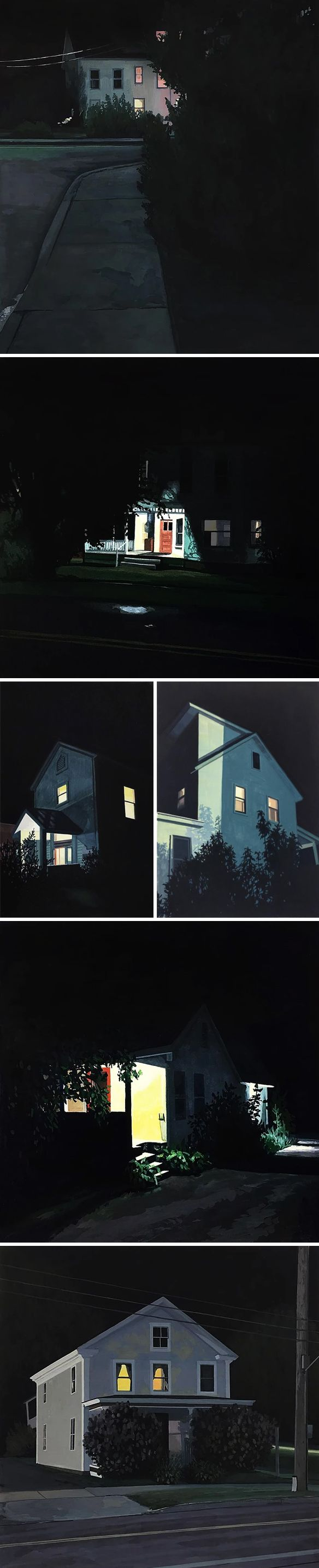 paintings on paper by christopher burk <3