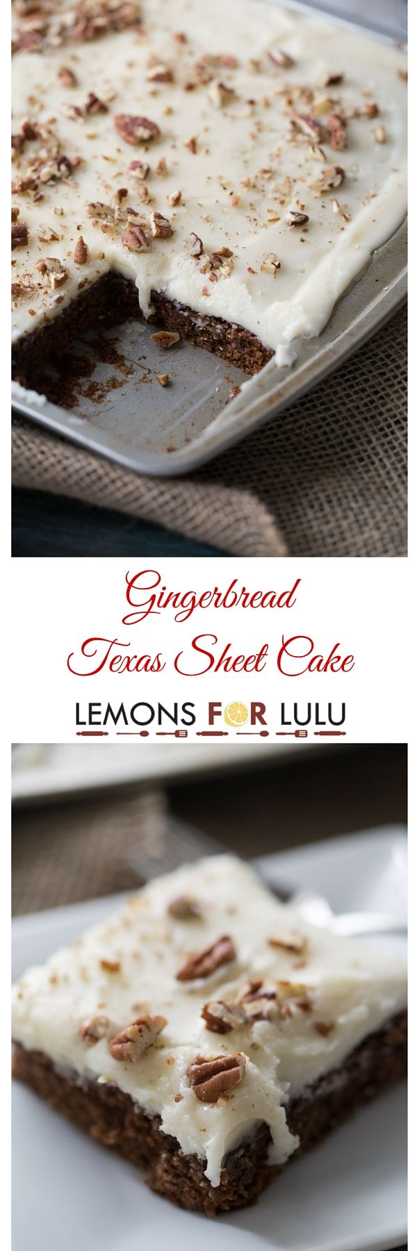"""This Texas sheet cake recipe is ready to feed a crowd! This chocolate cake is tender and soft andwith lots of festive gingerbread flavor! When I was little, the only vacation we took were to Michigan or Canada and this purely to visit family. We never did much """"on vacation"""", there was lots of eating and sitting on people's couches visiting. I think my mom as a whole album full of the family sitting on couches. In Michigan, we would visit my mom's uncle. They had a farm, although I…"""