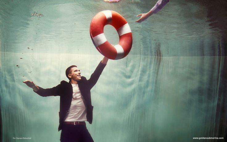 lifebuoy, underwater, help