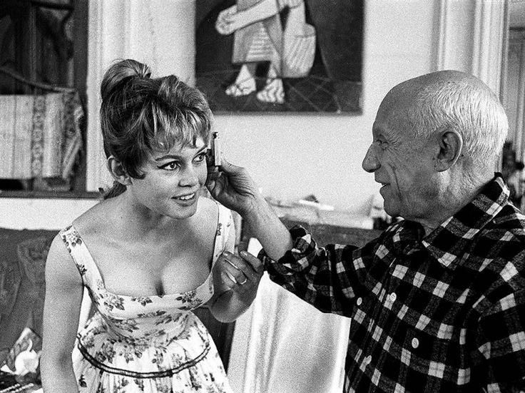 PABLO PICASSO AND BRIGITTE BARDOT  1956