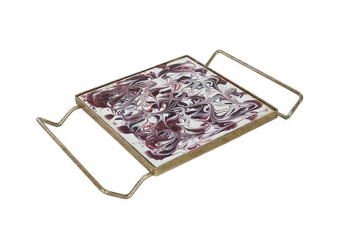 Vintage Trivet, Mosaic Trivet, Brass Trivet, Mid Century Modern Trivet, Hot Plate, Farmhouse, Cottage Chic, Vintage Tableware, Retro Kitchen by HazelHuezDesign on Etsy