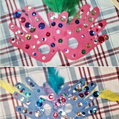Liz's Hand Print Masks: Liz's Hand Print Mask Photos