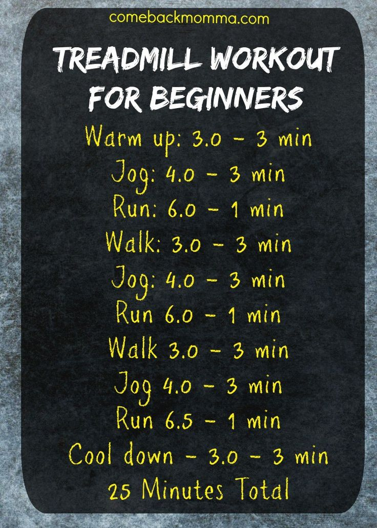 Treadmill Workout For Beginners but maybe I'll bump them all up one