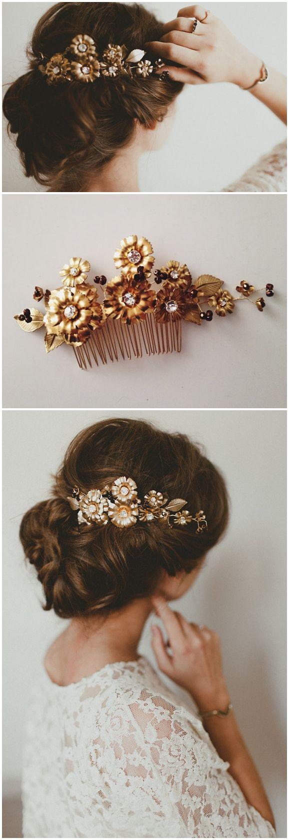 Wddding hairstyles La Marguerite comb, #1308