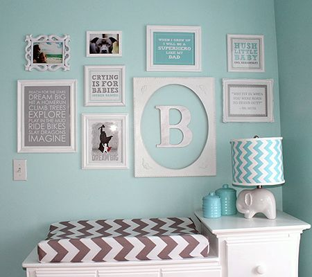 Funky Frame Collage – Modern Nursery Trend Watch: Gray & Teal | Disney Baby