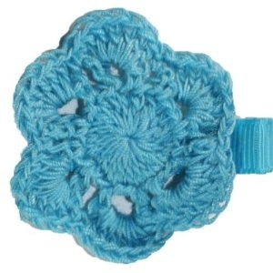Posies Accessories Crocheted Turquoise Doily Hair Clippie (Apparel)