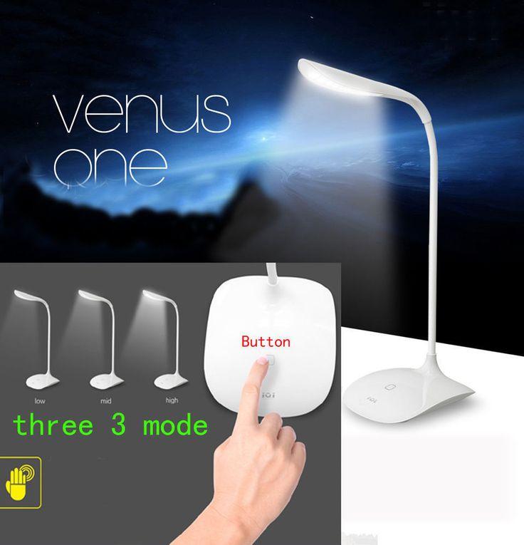 USB Rechargeable Touch Sensor Cordless LED Light Desk Table Reading Lamp ET #Unbranded
