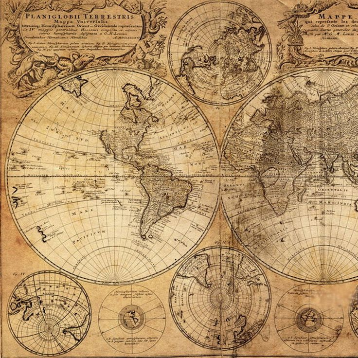 The 25 best vintage world maps ideas on pinterest world maps old map 1746 great selection of unique and exclusive wallpaper murals our murals are prepasted dry strippable and reusable gumiabroncs Gallery