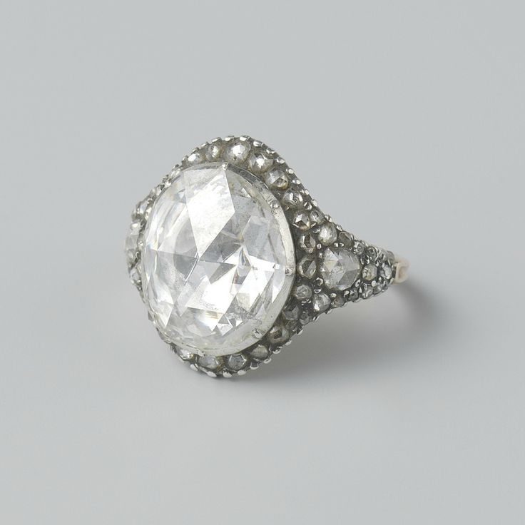 Man's ring, c. 1725 - c. 1750, silver, gold, diamond, h 1.9cm × w 2.1cm × d 2.3cm. NG-2011-24. Purchased with the support of the Maria Adriana Aalders Fonds/Rijksmuseum Fonds, 2011. Rijksmuseum, Amsterdam.
